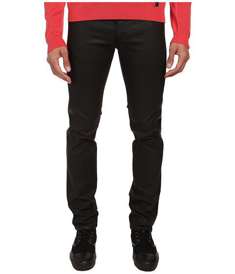Versace Collection - Slim Fit Moto Jean (Navy) Men's Jeans