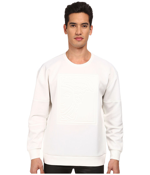 Versace Collection - Tonal Medusa Scuba Sweatshirt (White) Men