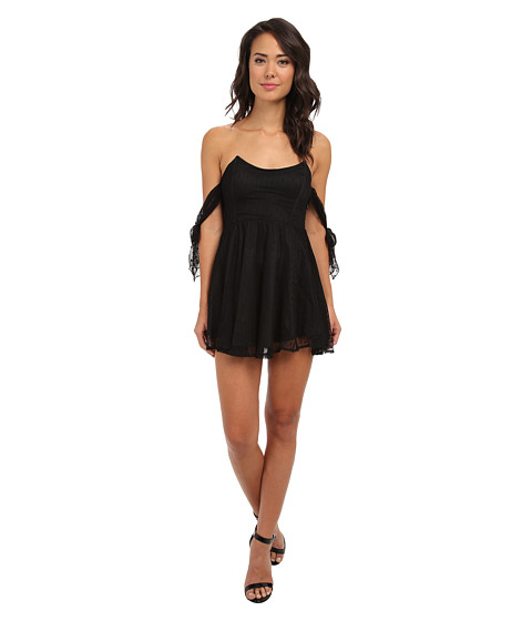 For Love and Lemons - Kiss Me Dress (Black) Women's Dress