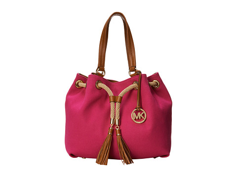 24c9e8636b7d UPC 888235842028 product image for MICHAEL Michael Kors Marina Large  Gathered Tote (Fuchsia) Tote ...