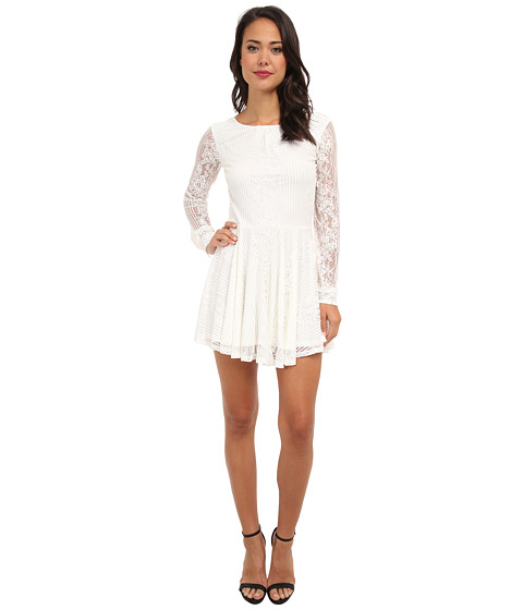 For Love and Lemons - Lolo Lace Dress (White) Women's Dress