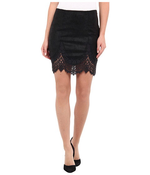 For Love and Lemons - Giddy Up Skirt (Black) Women's Skirt