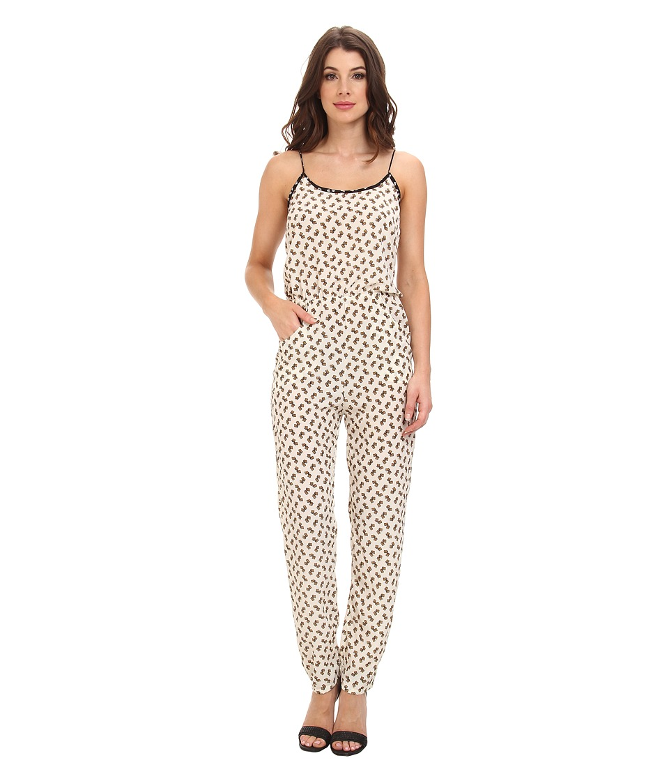 KAS New York - Koko Elephant Print Jumpsuit (Natural) Women