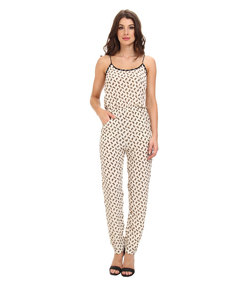KAS New York - Koko Elephant Print Jumpsuit (Natural) Women's Jumpsuit & Rompers One Piece