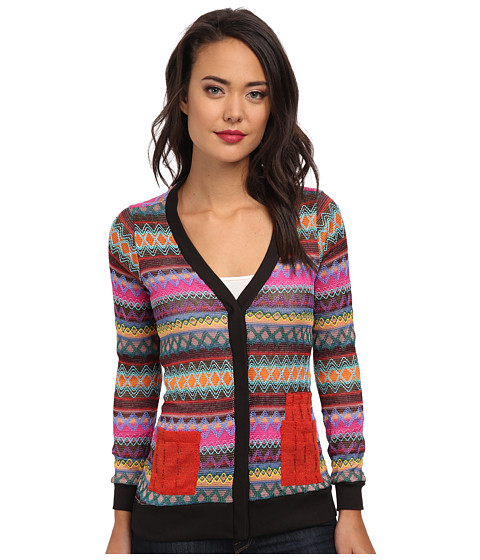 KAS New York - Makenna Crochet Cardigan (Red) Women's Sweater