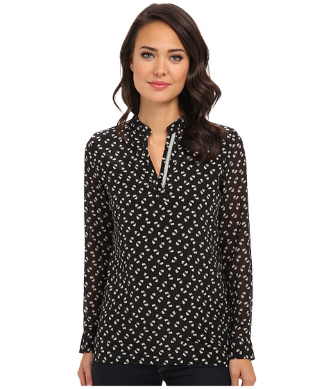 KAS New York - Genara Elephant Print Blouse (Black) Women's Blouse