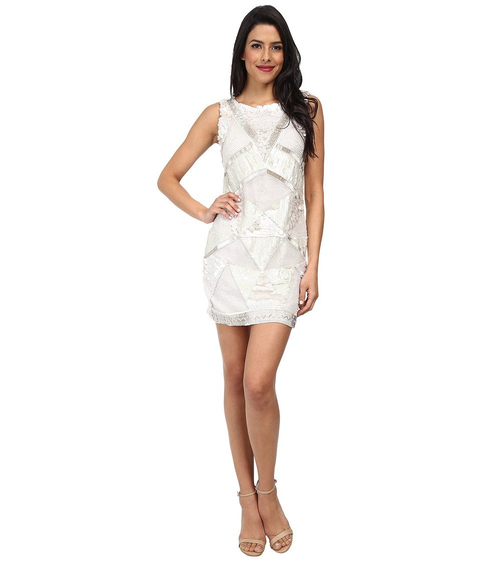KAS New York Gianna Geo Beaded Dress (White) Women