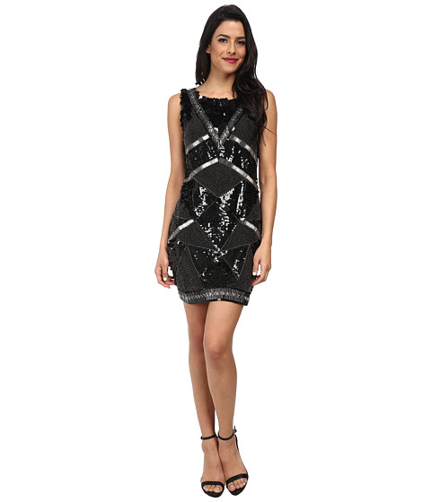 KAS New York - Gianna Geo Beaded Dress (Black) Women's Dress