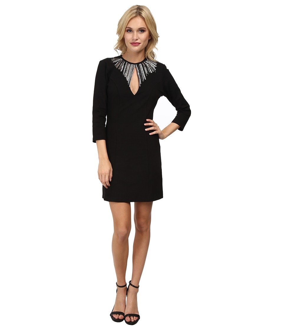 KAS New York Reshma Keyhole Dress (Black) Women