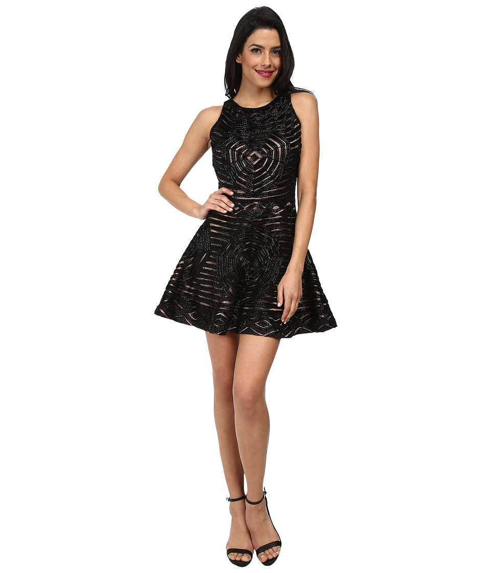 KAS New York - Zoey Fit and Flare Cutwork Dress (Black) Women's Dress