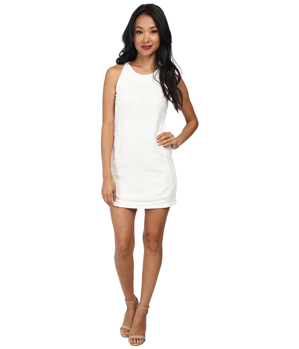 KAS New York - Klara Silk Jersey Dress (White) Women's Dress