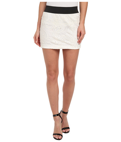KAS New York - Electra Paisley Mini Skirt (White) Women's Skirt