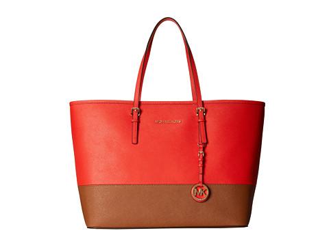 MICHAEL Michael Kors Jet Set Travel Medium Travel Tote (Mandarin/Luggage) Tote Handbags