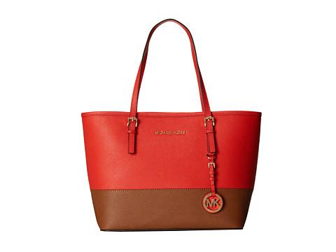 MICHAEL Michael Kors Jet Set Travel Small Travel Tote (Mandarin/Luggage) Tote Handbags