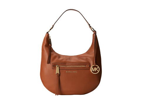 MICHAEL Michael Kors - Rhea Zip Medium Zip Shoulder (Luggage) Shoulder Handbags