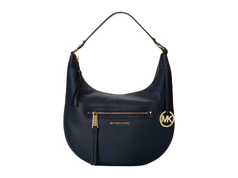 MICHAEL Michael Kors - Rhea Zip Medium Zip Shoulder (Navy) Shoulder Handbags