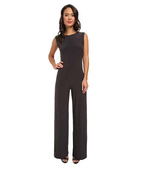 KAMALIKULTURE by Norma Kamali - Sleeveless Jumpsuit (Steel/Stealth Gray/Stealth Gray) Women's Jumpsuit & Rompers One Piece