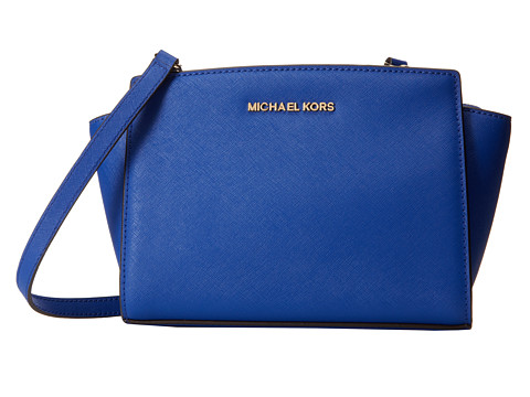 MICHAEL Michael Kors - Medium Selma Messenger (Electric Blue) Cross Body Handbags
