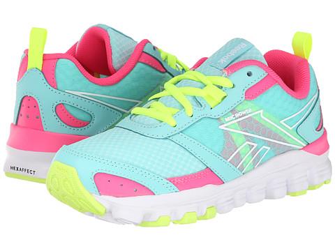 Reebok Kids - HexAffect Run (Little Kid) (Crystal Blue/Solar Pink/Solar Yellow/White) Girls Shoes