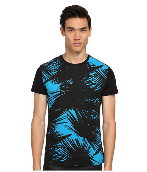 Versace Jeans - Palm Print (Blue) Men's T Shirt