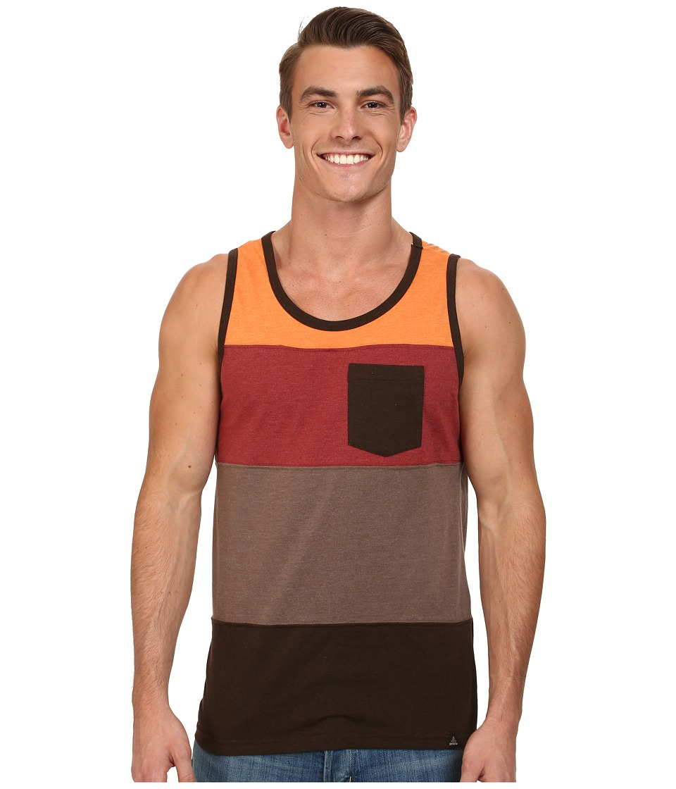 Prana - Lineage Tank (Brown Raisin) Men's Sleeveless