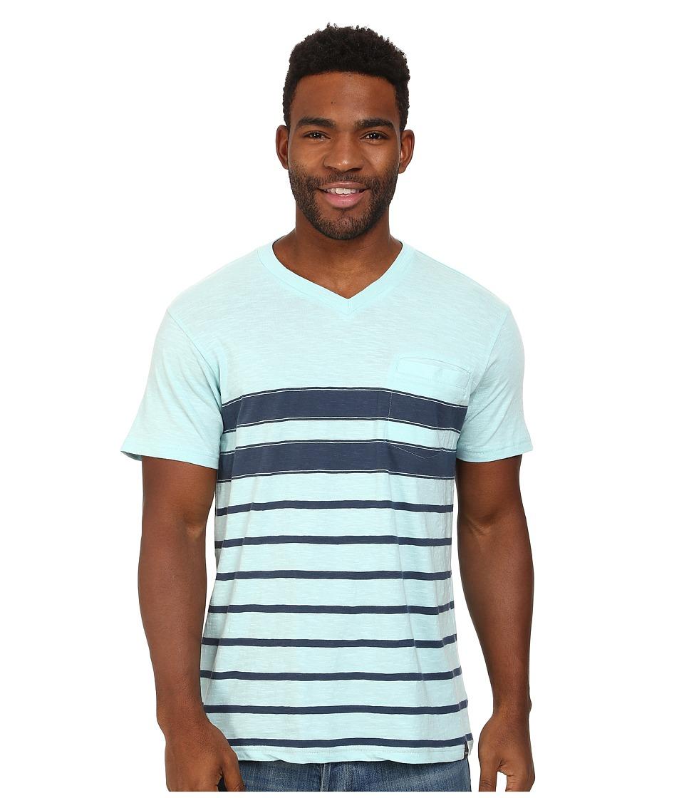 Prana - Breyson V-Neck Tee (Dusty Blue) Men's Short Sleeve Pullover