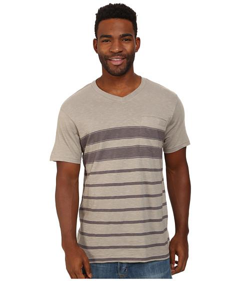 Prana - Breyson V-Neck Tee (Greystone) Men's Short Sleeve Pullover