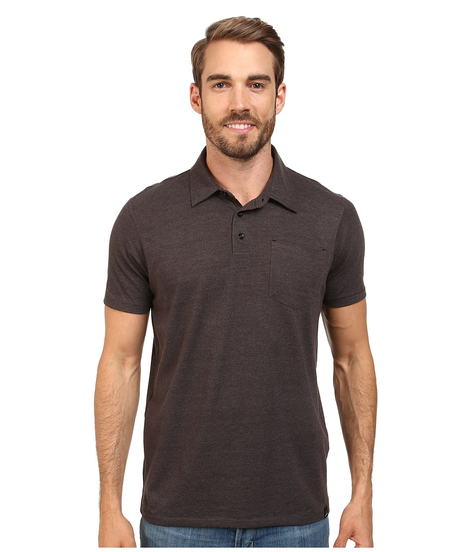Prana - Marco Polo (Black Heather) Men's Short Sleeve Pullover