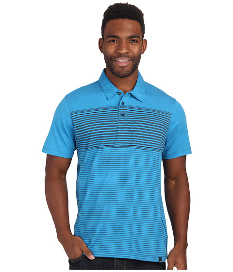 Prana - Marco Polo (Danube Blue) Men's Short Sleeve Pullover