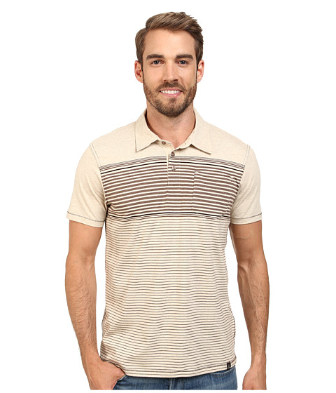 Prana - Marco Polo (Stone) Men's Short Sleeve Pullover