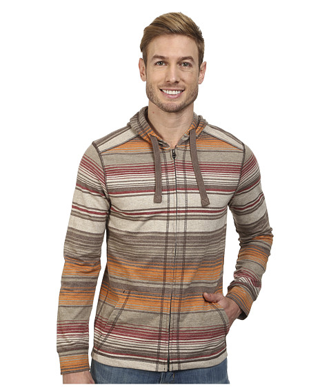 Prana - Trio Full Zip (Mud) Men's Sweatshirt