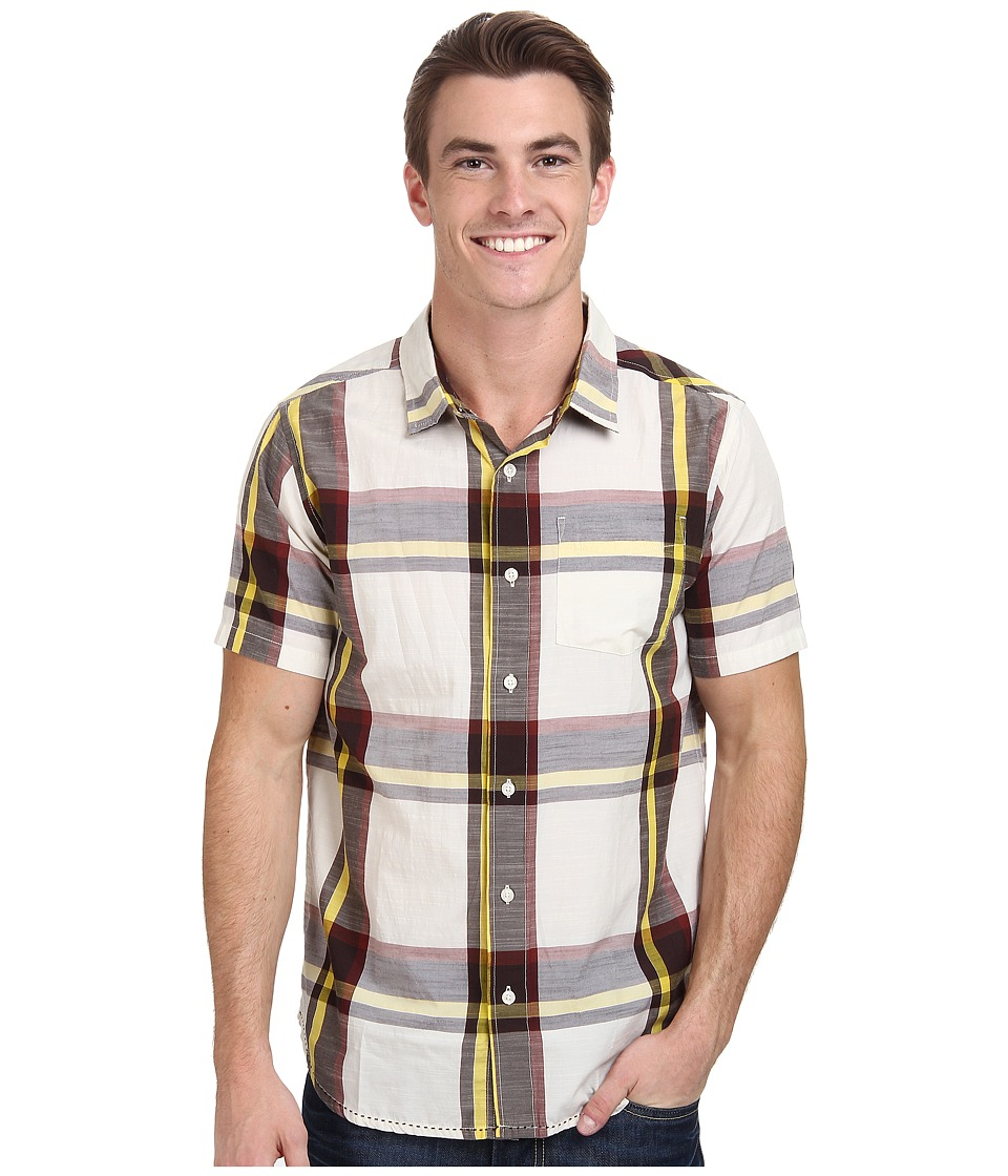 Prana - Ecto (Rich Cocoa) Men's Short Sleeve Button Up