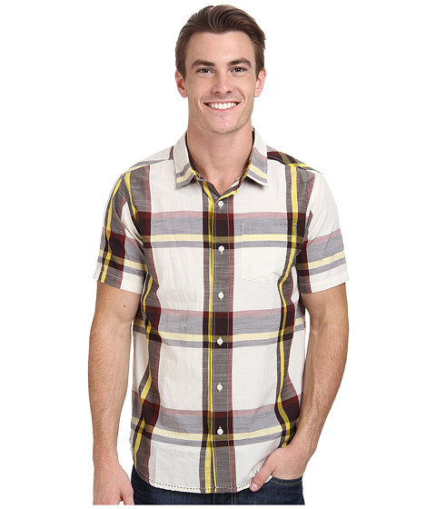 Prana - Ecto (Rich Cocoa) Men's Short Sleeve Button Up
