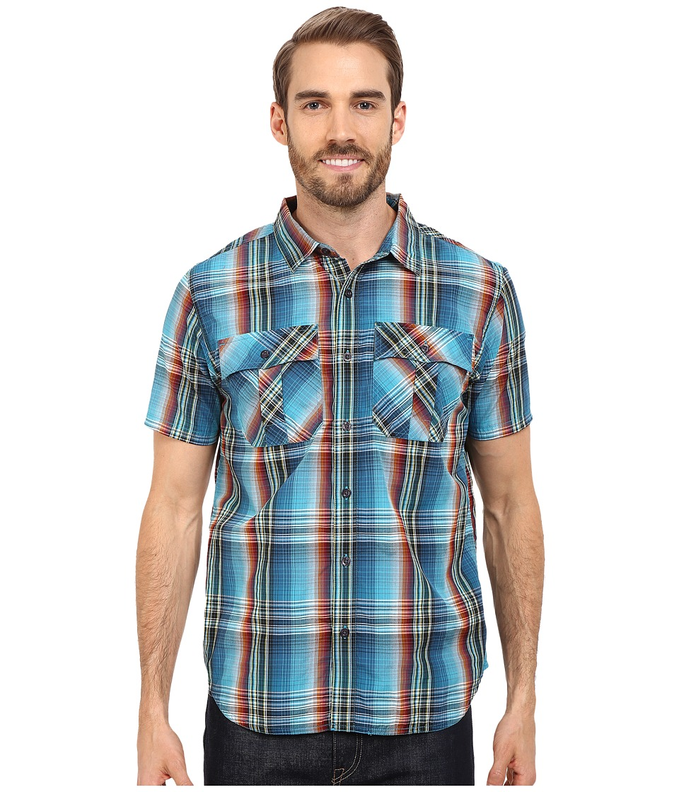 Prana - Ostend (Mosaic Blue) Men's Short Sleeve Button Up