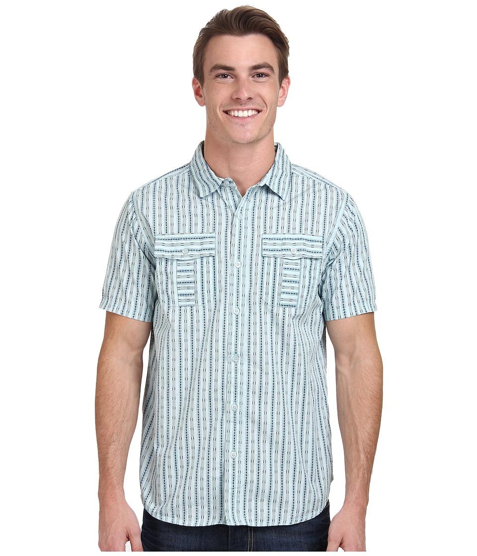 Prana - Torres (Dusty Blue) Men's Short Sleeve Button Up
