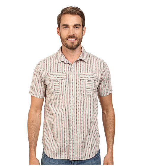 Prana - Torres (Light Grey) Men's Short Sleeve Button Up
