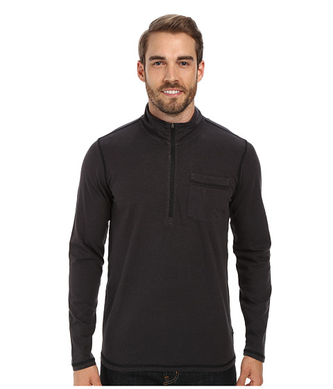 Prana - Guthrie 1/4 Zip Jacket (Charcoal) Men