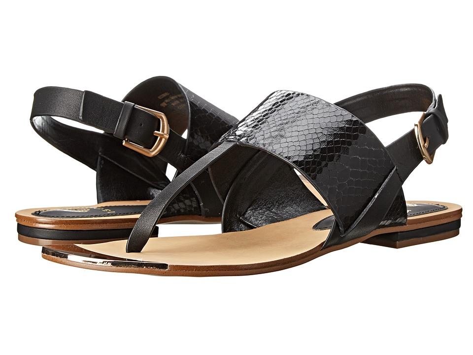 Isola - Presta (Black/Black Snake Print/M-Vege) Women's Sandals