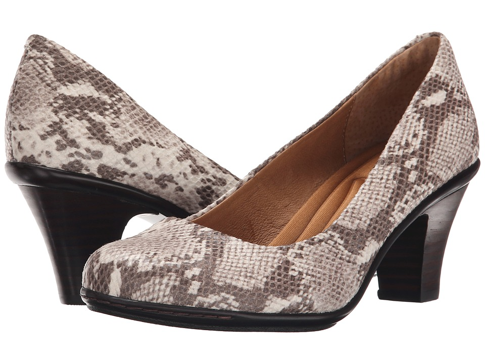 Sofft Velma (Tan Python Print) High Heels