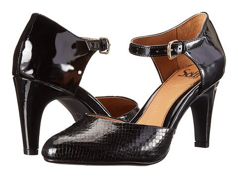 Sofft - Palesa (Black Patent Snake Print) High Heels