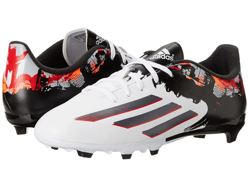 adidas Kids - Messi 10.3 FG (Little Kid/Big Kid) (White/Granite/Scarlet Red) Kids Shoes