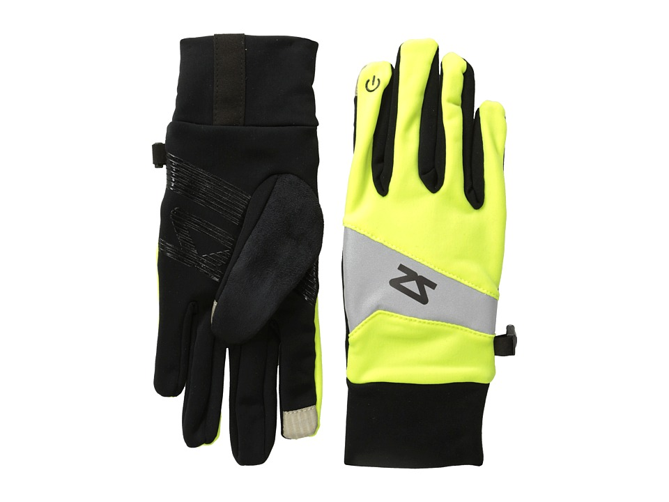 Zensah - Reflect Running Gloves (Neon Yellow) Liner Gloves
