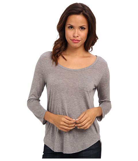 AG Adriano Goldschmied Wren Scoop Top (Heather Gray) Women's Short Sleeve Pullover