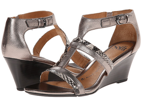Sofft - Pippa (Anthracite Metallic/Grey Python Print) Women