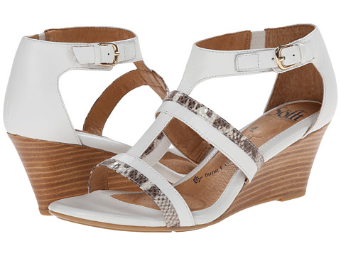 Sofft - Pippa (White Platinum Calf/Viper Desert) Women's Wedge Shoes