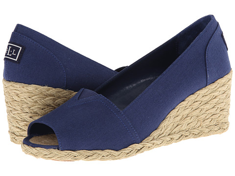 LAUREN by Ralph Lauren - Claudia (Navy Solid Canvas) Women