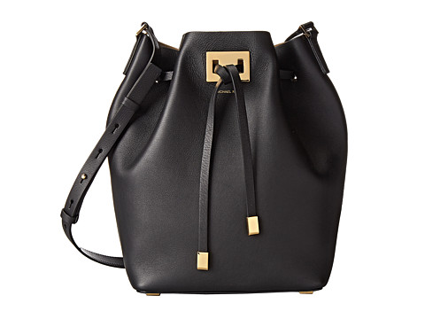 Michael Kors - Miranda Drawstring Messenger (Black) Cross Body Handbags