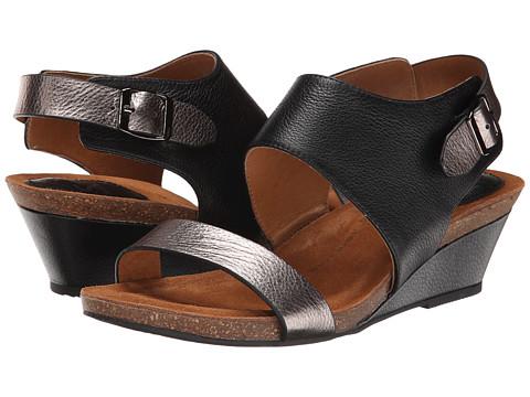 Sofft - Vanita (Black Odyssey/Anthracite Metallic) Women's Wedge Shoes