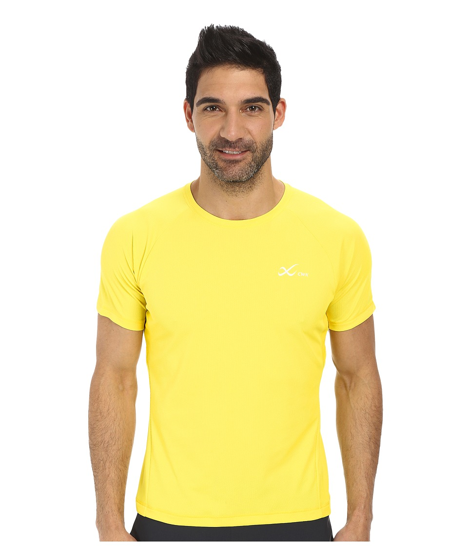 CW-X - S/S Ventilator Mesh Top (Yellow) Men's Short Sleeve Pullover