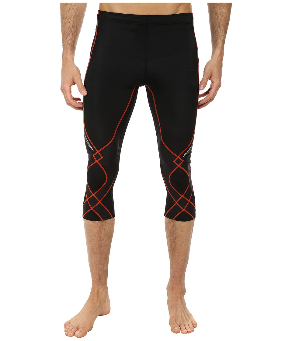 CW-X - 3/4 Stabilyx Tights (Black/Orange) Men's Workout